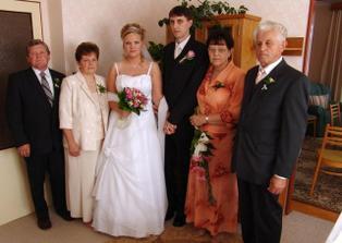 První společná fotka s rodiči :o)