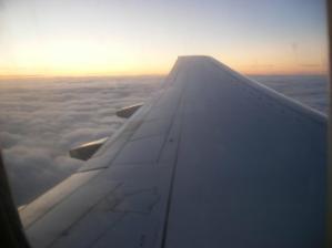 Pohled z letadla při zpátečním letu :o)