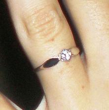 To je muj prstýnek zásnubní..:)