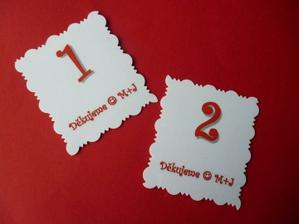 a takhle vypadají lístky , které budu přidělávat k dárečkům :-)