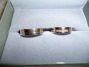 a tohle jsou naše prstýnky! Mám z nich obrovskou radost.. nakonec máme ty, co jsem celou dobu taaak chtěla :-D