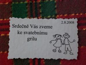 pozvánka ke svatebnímu grilu :)