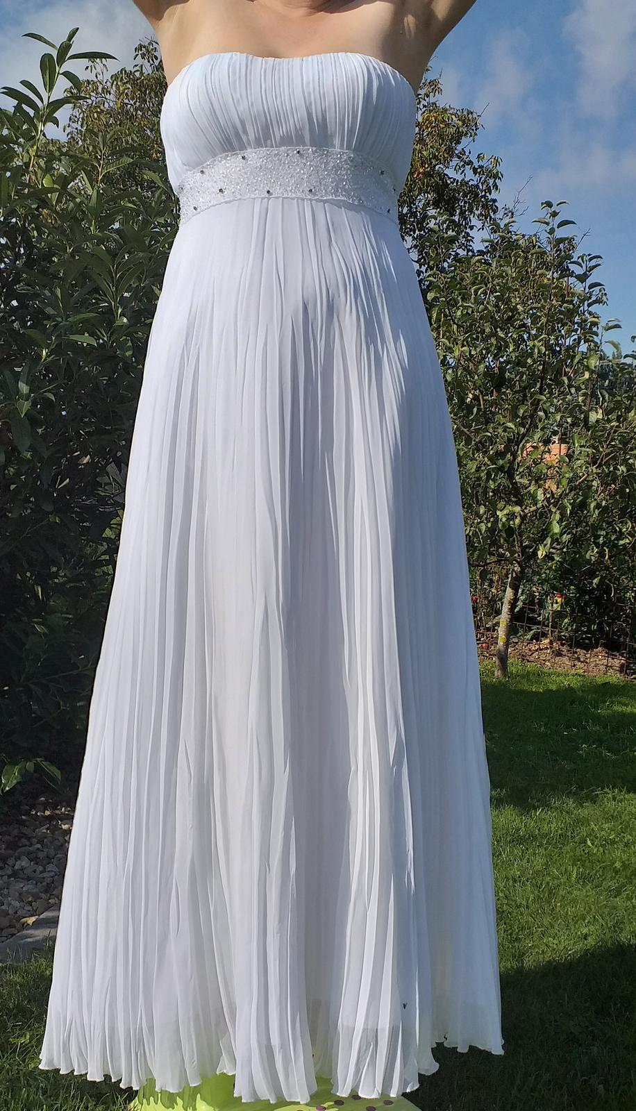 Překrásné svatební šaty v řeckém, antickém stylu - Obrázek č. 1