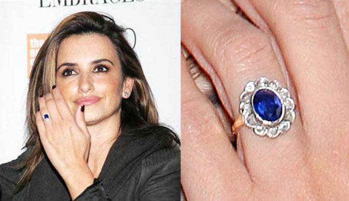 Slavné zásnubní prsteny - Penelope Cruz
