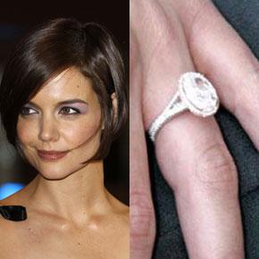 Slavné zásnubní prsteny - Katie Holmes