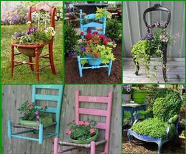Stará židle - trocha barvy a kreativní kětináč co vám bude každý závidět :-)