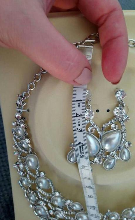 Set náhrdelník a náušnice, bižutéria - Obrázok č. 2