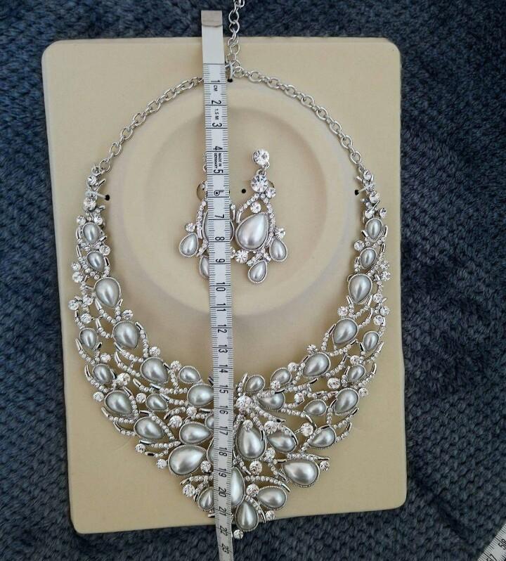 Set náhrdelník a náušnice, bižutéria - Obrázok č. 3