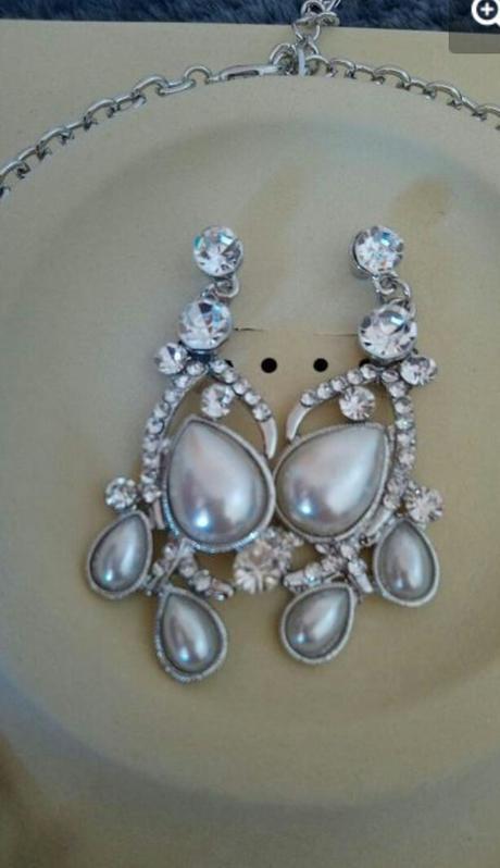 Set náhrdelník a náušnice, bižutéria - Obrázok č. 4