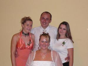 s Evičkou(přítelkyně mého bratra) a s Haňulkou(přítelkyně mého bratránka) moc fajn holky