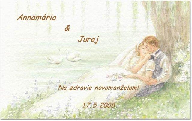 Ami & Jurko - potom som vyrobila etikety na svadobné vínko, dobré nie?