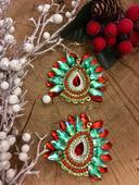 Náušnice - Christmas stars,