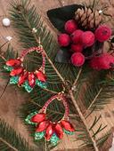 Náušnice - Little christmans stars,
