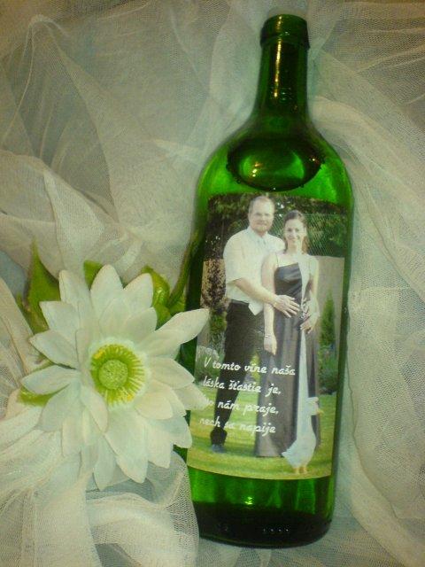 Naša príprava, nápady, inšpirácie.... - ... etiketu na vínko. takže na zdravie!