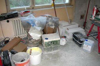kuchyne uprostred prestavby
