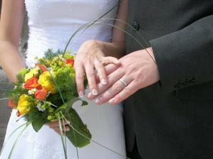 moje krásná kytička   naše snubní prstýnky