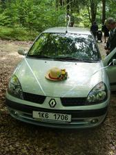 Takhle vypadalo moje autíčko před svatbou ...