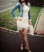 Krémové krajkované šaty Only, 36