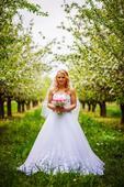 Svadobné šaty + závoj, 38