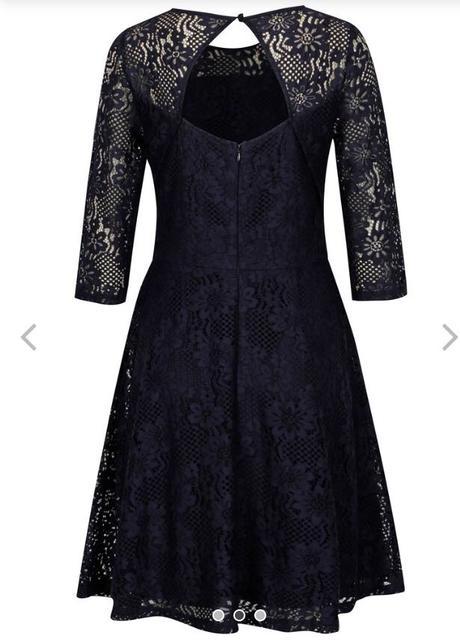 Tmavomodré čipkové šaty  - Obrázok č. 3