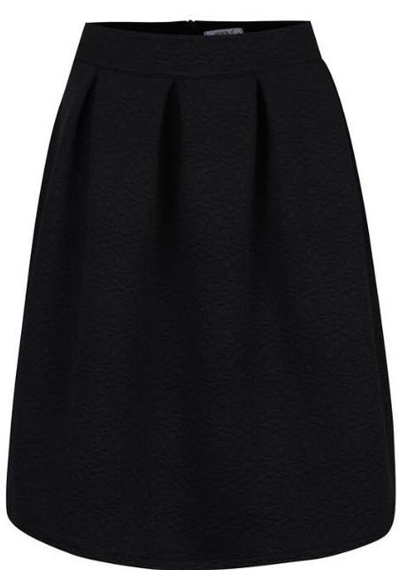 Čierna vzorovaná sukňa - Obrázok č. 1