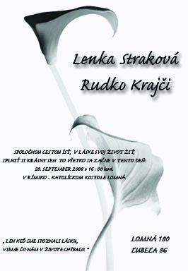 Lenka Straková{{_AND_}}Rudko Krajči - Naše oznámenie