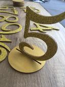 Čísla na stoly - zlaté,