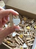 Dřevěné mini kolíčky / štipce - 130ks - PRODÁNO,
