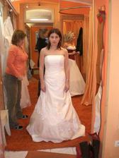 druhý salon-zkouška šatů podruhé - nic moc