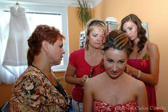 příprava u nevěsty