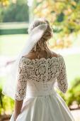 Svadobné šaty saténové + čipka, 38