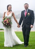Svatební šaty s holými zády (vel.34-38), 36