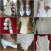 Krátké šaty vel. 36 včetně spodnice +pásek/bolerko, 36