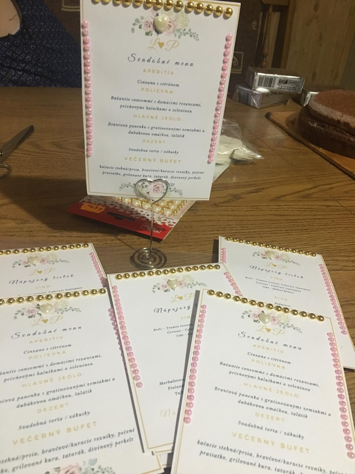 Bride to be :) - Svadobné menu / nápojový listok 😋