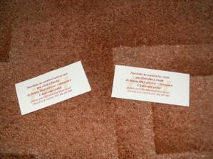 doma vyrobené pozvánky ke stolu