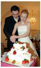 specalita hotelu Malý pivovar - odlehčený svatební dort