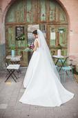 Elegantné svadobné šaty, veľkosť 34 - 36, 34