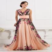 Marhuľové spoločenské šaty pre MOLETKY  , 54