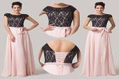 Ružové spoločenské šaty pre MOLETKY, 46