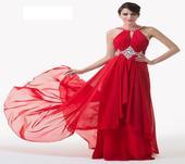 Červené spol. šaty - veľ. 46 dodanie IHNEĎ, 46