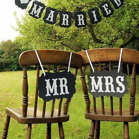 Nápisy na stoličky Mr a Mrs - Obrázok č. 1