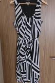 Černo-bílé šaty Bandolera s vázáním , 42
