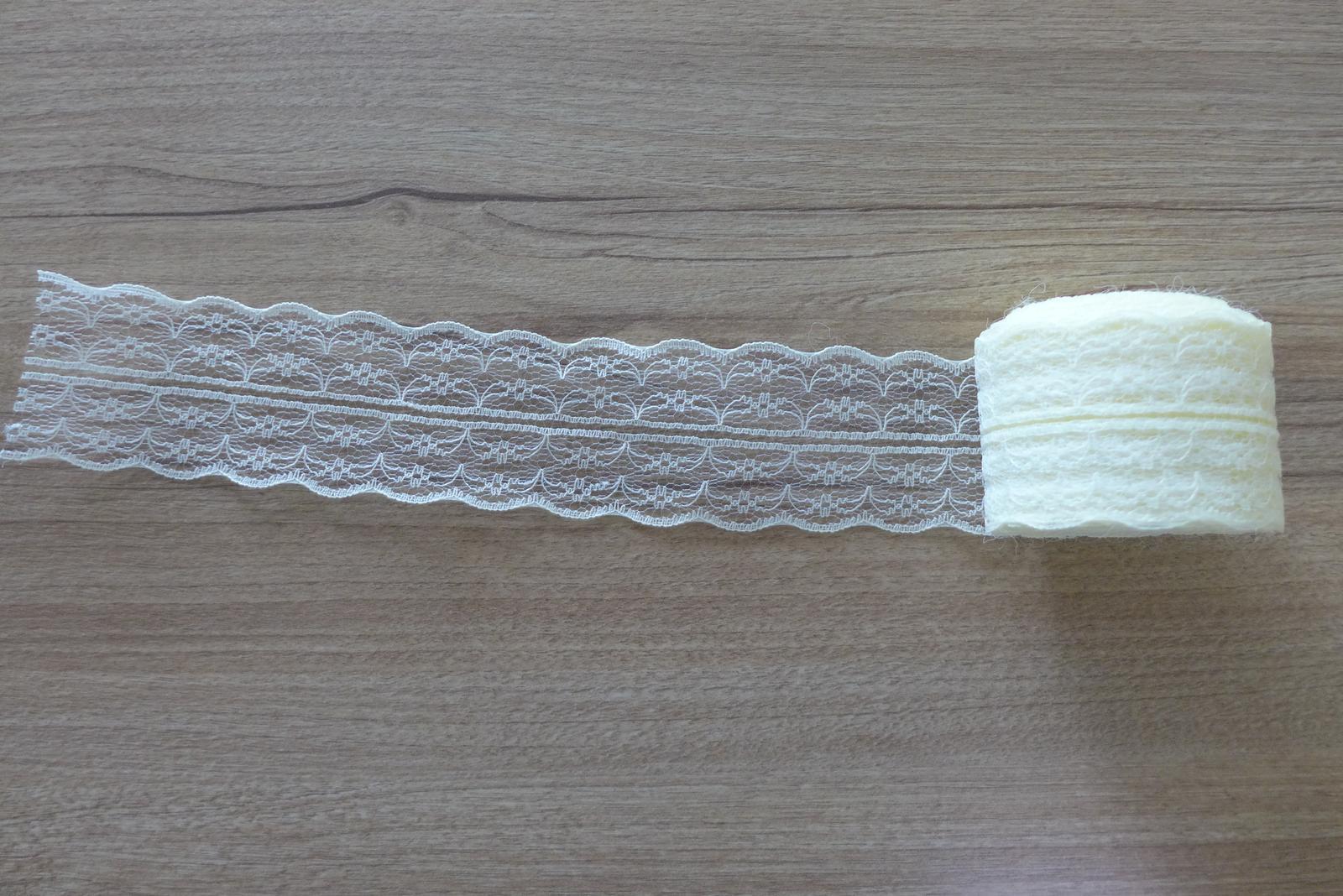 Béžová krajka (10 m) - Obrázek č. 1
