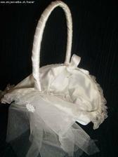 košík na lupienky pre malé družičky