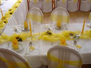 Výzdobu stolov budem mat žlto zelenú