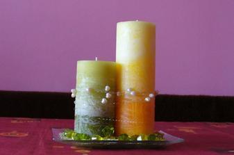 Sviečky, ktoré budem mať na hlavnom stole
