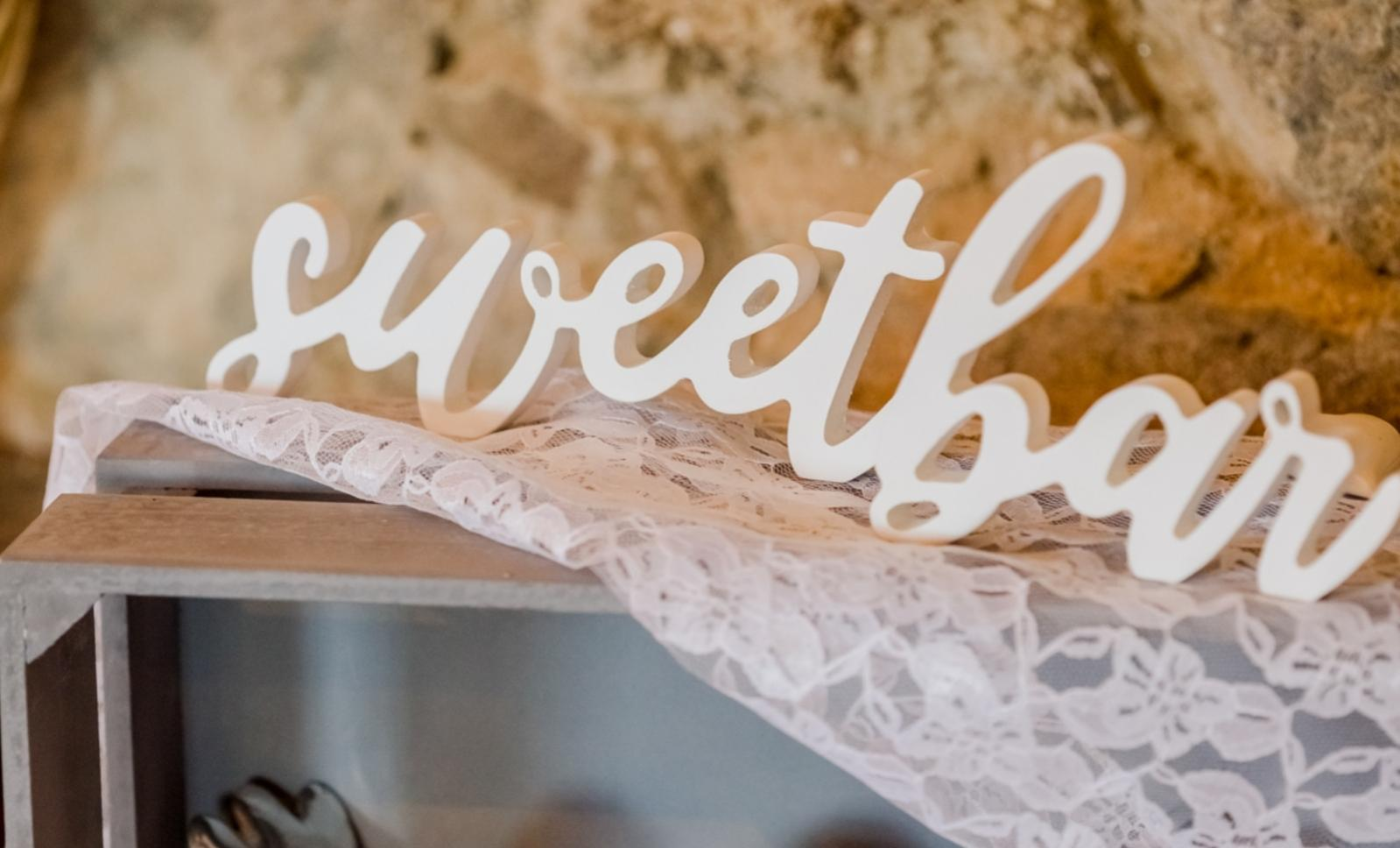 Dřevěný nápis Sweet bar... - Obrázek č. 2