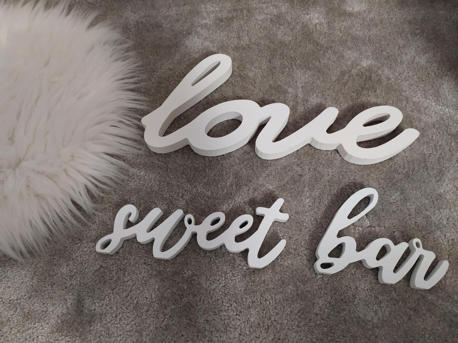 Dřevěný nápis Sweet bar... - Obrázek č. 1