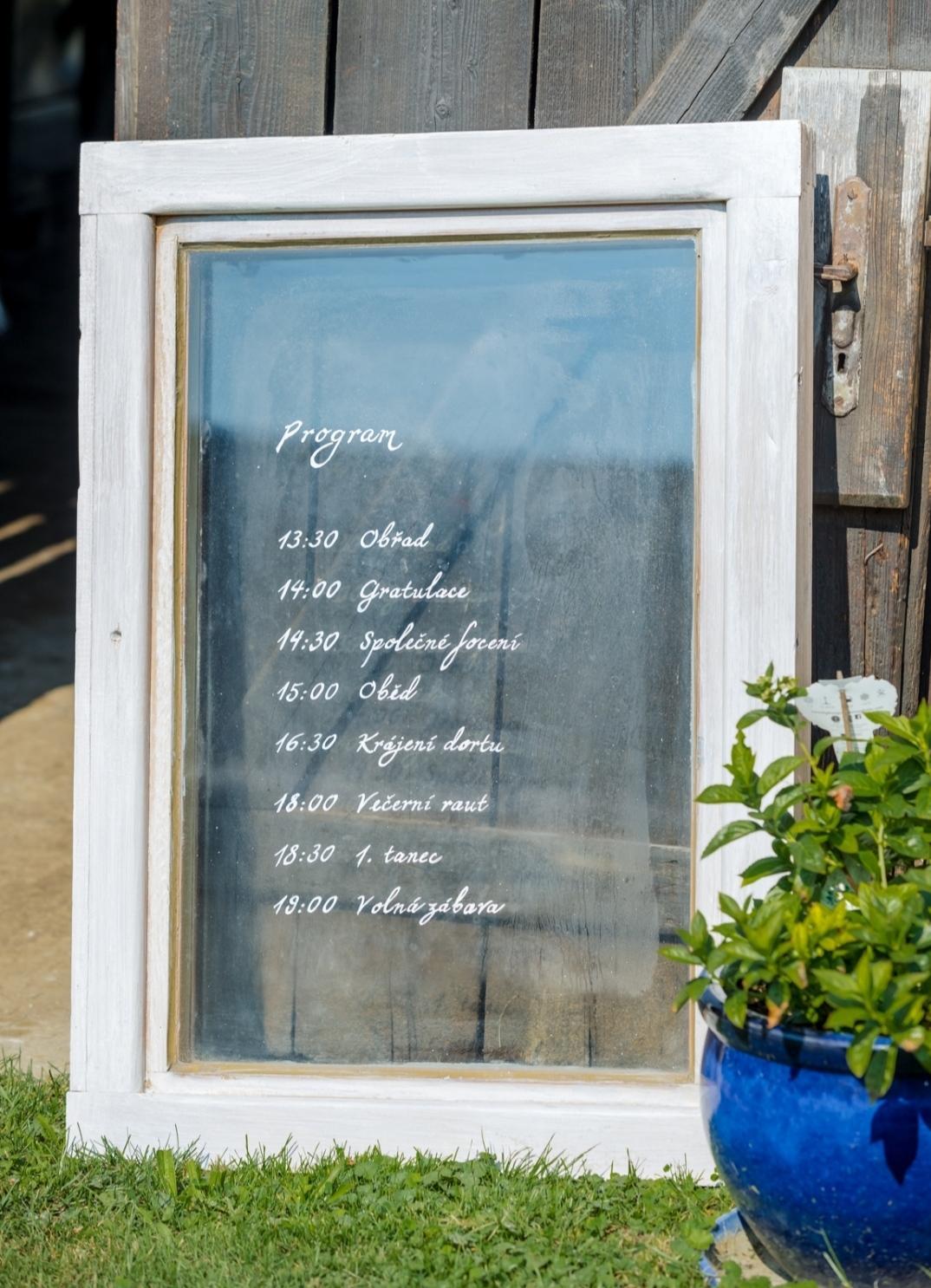 Svatební dekorace Okno - Obrázek č. 1