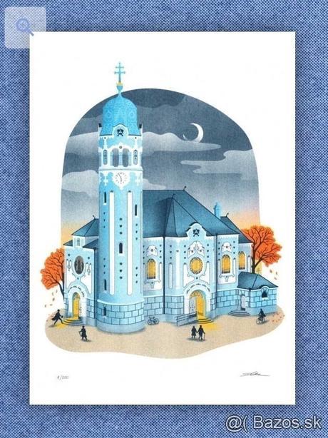 Predám risografiku Modry kostolik - pre nevesticky z Bratislavy - Obrázok č. 1